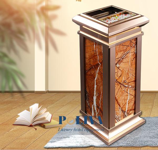 Thùng rác đá được làm từ chất liệu cao cấp