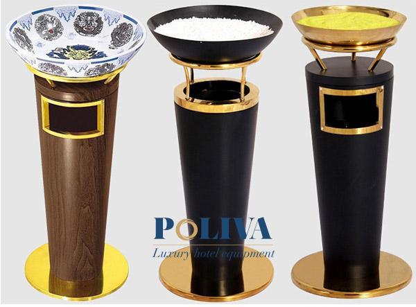Thùng rác trang trí cao cấp thường dùng ở tiền sảnh