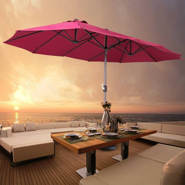ô dù ngoài trời cho quán cafe