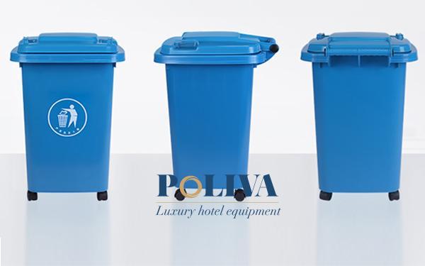 Thiết kế thùng rác kiểu dáng đẹp, màu sắc nổi bật