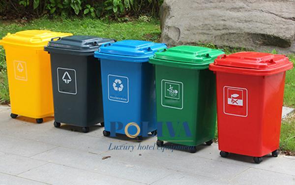 Thùng rác 60 lít của Poliva và các đặc điểm chinh phục người dùng