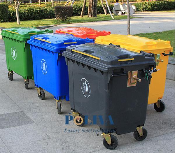 Thùng rác công cộng 660l đa dạng màu sắc