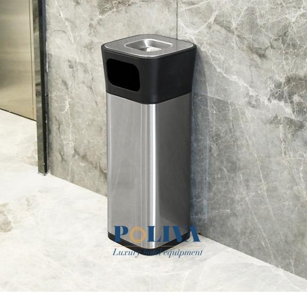 Thùng rác inox có kết cấu tinh xảo