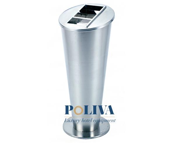 Chất liệu inox cao cấp có thể tạo ra nhiều mẫu thùng rác khác nhau