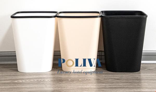 Thùng rác nhựa văn phòng thiết kế đơn giản, màu sắc trang nhã