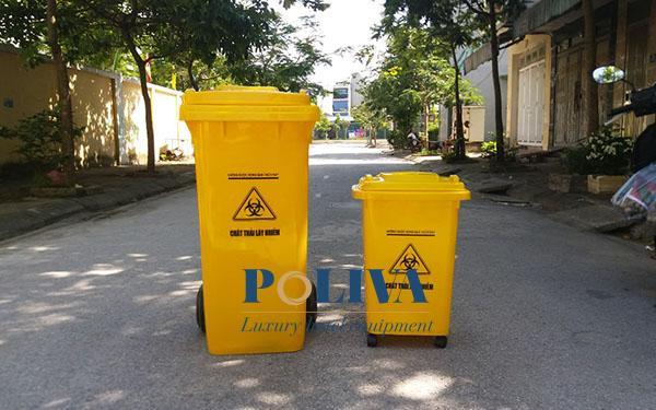 Nên trang bị thùng rác nhựa cố định hay thùng rác có bánh xe ở nơi công cộng