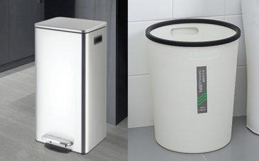 So sánh thùng rác văn phòng bằng nhựa hay inox: Loại nào tốt hơn?