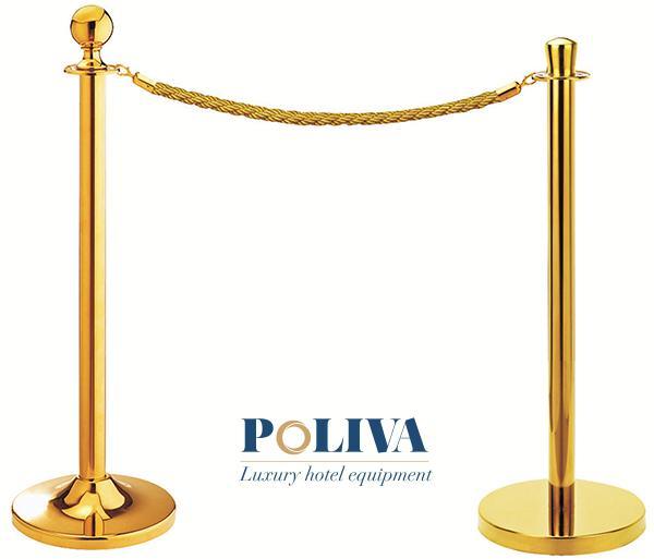 Cột chắn inox dây chùng mạ vàng cao cấp