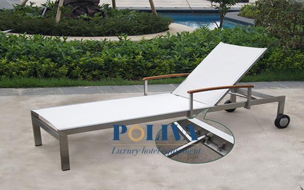 Sản xuất ghế hồ bơi textilene thương hiệu Poliva