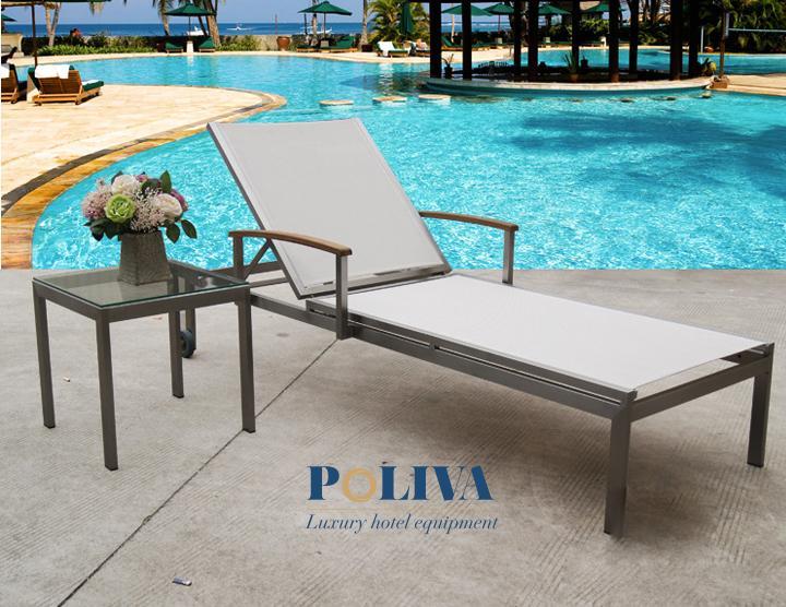 Ghế hồ bơi textilene phù hợp dùng trong không gian nào?