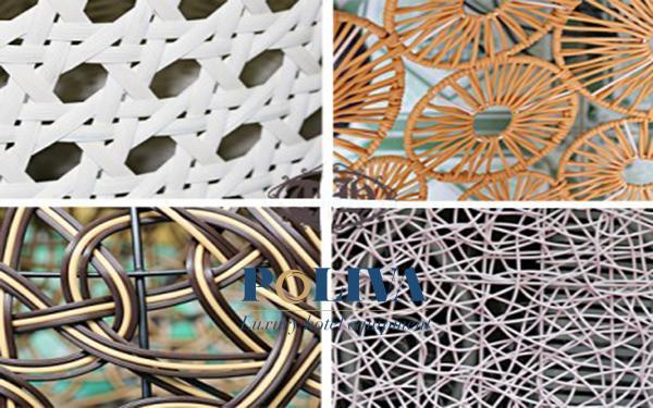 Một số kiểu đan xích đu mây nhựa phổ biến tại Poliva