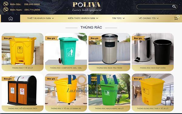 Shop bán thùng rác inox online uy tín, chất lượng