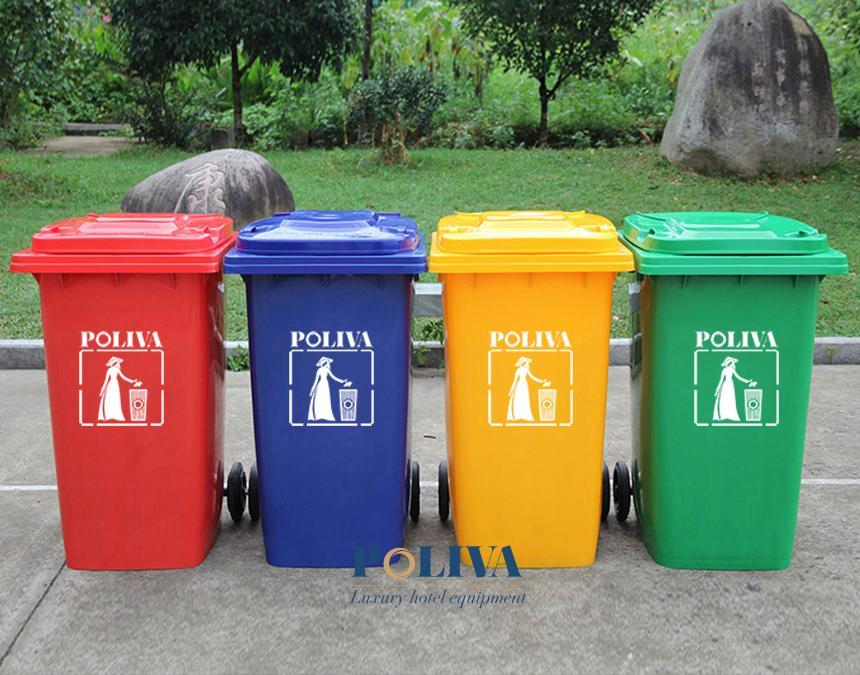 Cách bài trí thùng rác cho khu du lịch