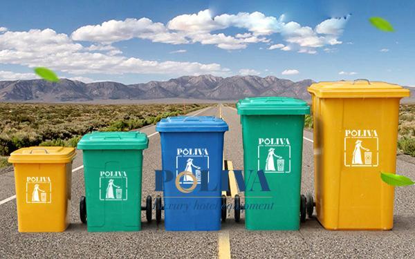 Chất liệu thường dùng làm thùng rác công nghiệp