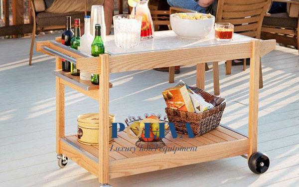 Nên chọn loại xe đẩy thức ăn bao nhiêu tầng dùng trong nhà hàng?