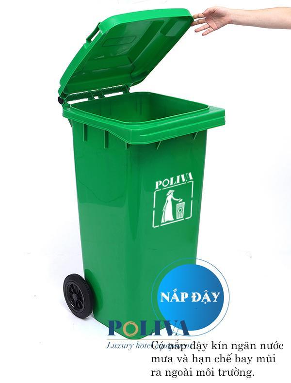 Đặc điểm của thùng rác nhựa có nắp thương hiệu Poliva