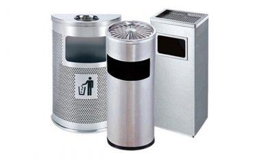 Giới thiệu mẫu  thùng rác inox gạt tàn thuốc lá