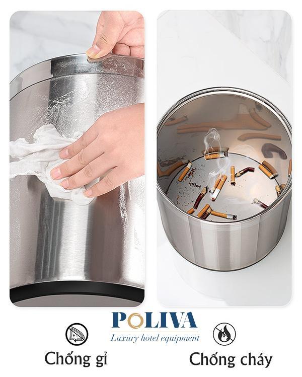 Kiểm tra chất lượng thùng rác inox trước khi mua