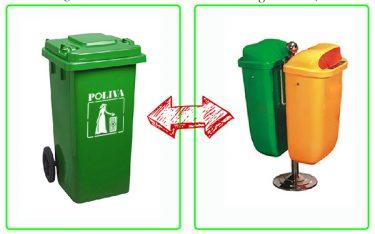 Nên mua thùng rác có bánh xe hay thùng rác cố định