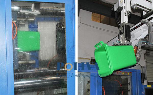 Quy trình sản xuất thùng rác nhựa tại Poliva