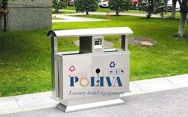 Thùng rác inox 2 ngăn có những ưu điểm nổi bật nào?