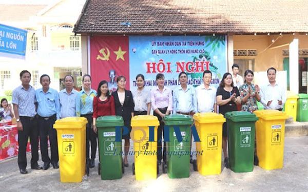 Khu vực nông thôn mới nên trang bị những mẫu thùng rác nào?