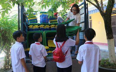 Tiêu chí khi mua thùng rác cho trường học