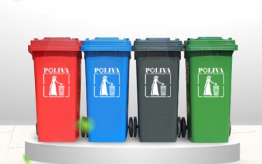 Ưu điểm của thùng rác 120 lít thương hiệu Poliva