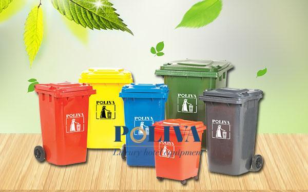 Ưu điểm nổi bật của thùng rác nhựa Poliva