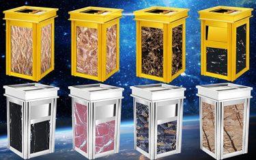 Cần chú ý những gì khi vệ sinh thùng rác đá hoa cương?