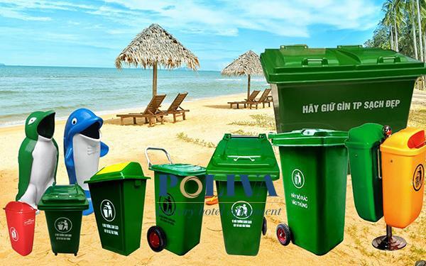 Đâu là mẫu thùng rác thích hợp dùng cho bãi biển?