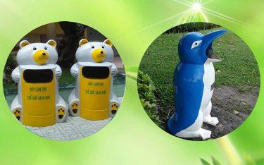 Giới thiệu mẫu thùng rác hình thú