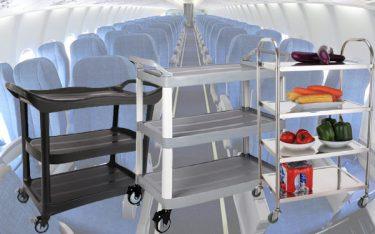 Xe đẩy thức ăn trên máy bay nào tốt nhất?