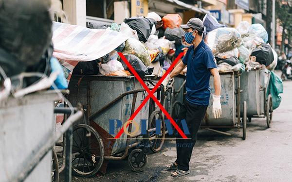Nên sử dụng xe gom rác đúng cách