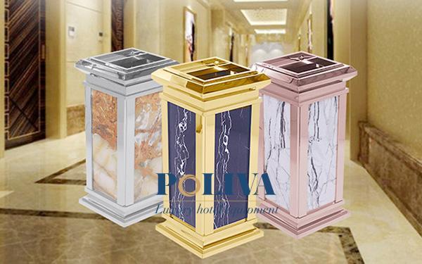 Hướng dẫn vệ sinh thùng rác đá hoa cương